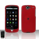 HTC Nexus One Red Case Cover Snap on Protector + Car Charger