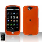 HTC Google Nexus One Orange Case Cover Snap on Protector + Car Charger