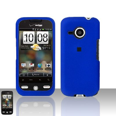 HTC Droid Eris S6200 Blue Case Cover Snap on Protector + Screen Guard