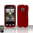 HTC Droid Eris S6200 Red Case Cover Snap on Protector + Car Charger