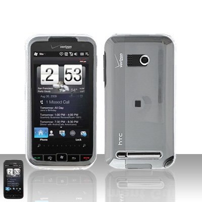HTC Touch Diamond 2 CDMA Clear Transparent Case Cover Snap on Protector + Car Charger