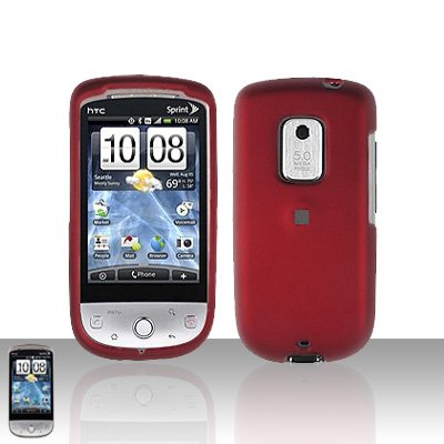 HTC Hero CDMA Red Case Cover Snap on Protector + Car Charger