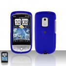 HTC Hero CDMA Blue Case Cover Snap on Protector + Car Charger