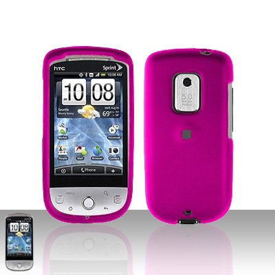 HTC Hero CDMA Pink Case Cover Snap on Protector + Car Charger