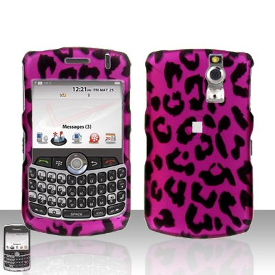 Blackberry Curve 8330 8300 Pink Leopard Hard Case Snap on Cover