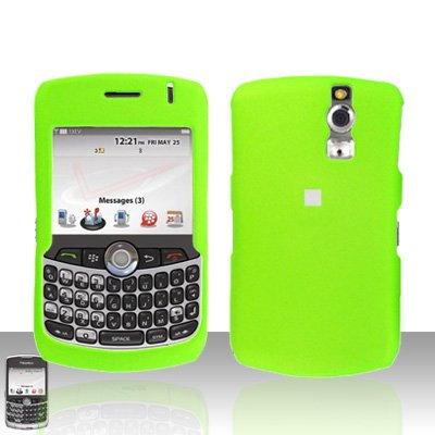 Blackberry Curve 8330 8300 Neon Green Hard Case Snap on Cover
