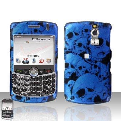 Blackberry Curve 8330 8300 Blue Skull Hard Case Snap on Cover