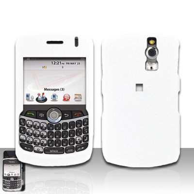 Blackberry Curve 8330 8300 White Hard Case Snap on Cover