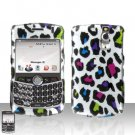 Blackberry Curve 8330 8300 Colorful Leopard Hard Case Snap on Cover