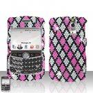 Blackberry Curve 8330 8300 Checkered Design Full Diamon Case Snap on Cover