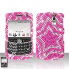 Blackberry Curve 8330 8300 Star Design  Full Diamond Case Snap on Cover