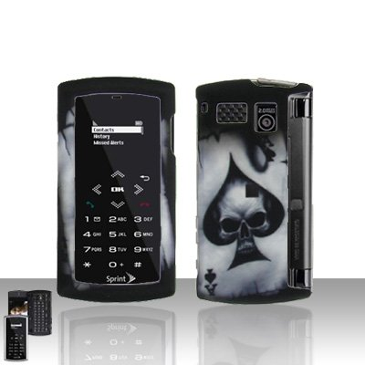 Sanyo Incognito 6760 Spade Skull Case Cover Snap on Protector + Car Charger