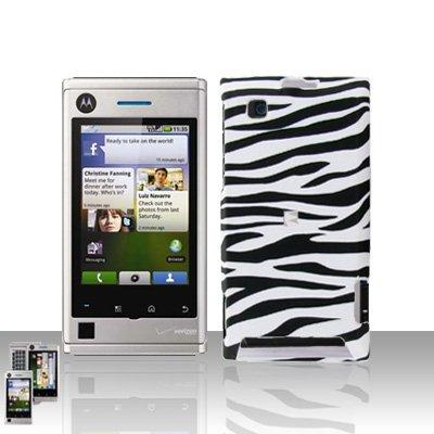 Zebra Case Cover Snap on Protector for Motorola Devour A555