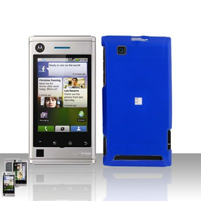 Blue Case Cover Snap on Protector for Motorola Devour A555