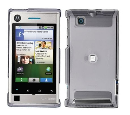 Clear Transparent Case Cover Snap on Protector for Motorola Devour A555