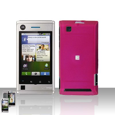 Pink Case Cover + LCD Screen Protector Guard for Motorola Devour A555