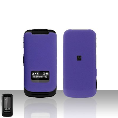 Purple Case Cover Snap on Protector + Car Charger for Motorola i410