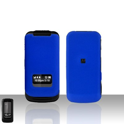 Blue Case Cover Snap on Protector + Car Charger for Motorola i410