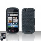 Carbon Fiber Cover Case Snap on Protector for Motorola Cliq MB200