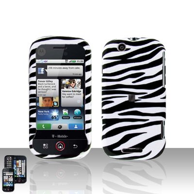 Zebra Cover Case Snap on Protector for Motorola Cliq MB200