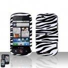 White Zebra Cover Case + LCD Screen Protector for Motorola Cliq MB200