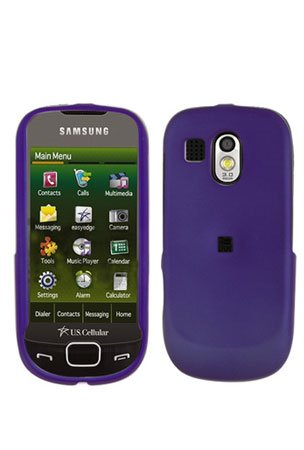 Purple Cover Case Snap on Protector + Car Charger for Samsung Calibur R850