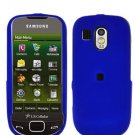 Blue Cover Case Snap on Protector + Car Charger for Samsung Calibur R850