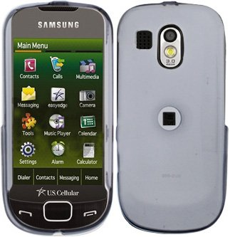 Clear Transparent Cover Case Snap on Protector + Car Charger for Samsung Calibur R850