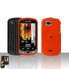 Orange Cover Case Snap on Protector + Car Charger for Samsung Moment M900