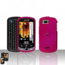 Pink Cover Case Snap on Protector + Car Charger for Samsung Moment M900