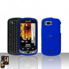Blue Cover Case Snap on Protector + Car Charger for Samsung Moment M900