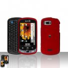 Red Cover Case Snap on Protector + Car Charger for Samsung Moment M900