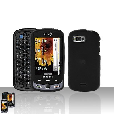 Black Cover Case Snap on Protector + Car Charger for Samsung Moment M900