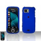 Blue Cover Case Snap on Protector + Car Charger for Samsung Mythic A897