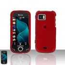 Red Cover Case Snap on Protector + Car Charger for Samsung Mythic A897