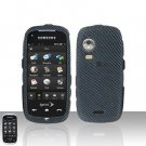 Carbon Fiber Cover Case Snap on Protector + Car Charger for Samsung Instinct HD M850