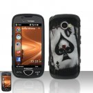 Spade Skull Cover Case Snap on Protector + Car Charger for Samsung Omnia 2 i920