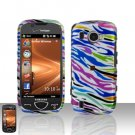 Rainbow Zebra Cover Case Snap on Protector for Samsung Omnia 2 i920