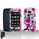 Pink Dots Cover Cover Case Rubberized Snap on Protector + Car Charger for Samsung Impression A877