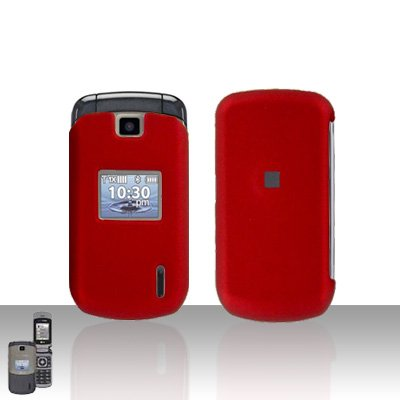 Red Cover Case Snap on Protector + Car Charger for LG Accolade VX5600
