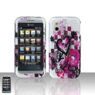 Arrow Heart Cover Case Snap on Protector for LG Arena GT950