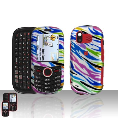 Rainbow Zebra Cover Case Snap on Protector for Samsung Intensity U450