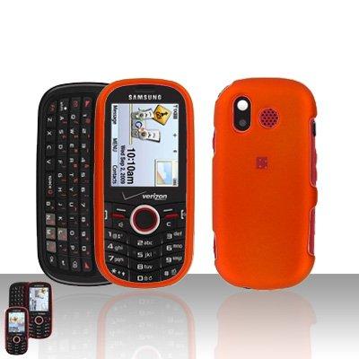 Orange Cover Case Snap on Protector U 450 for Samsung Intensity U450