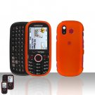 Orange Snap on Cover Case + LCD Screen Guard Protector for Samsung Intensity U450