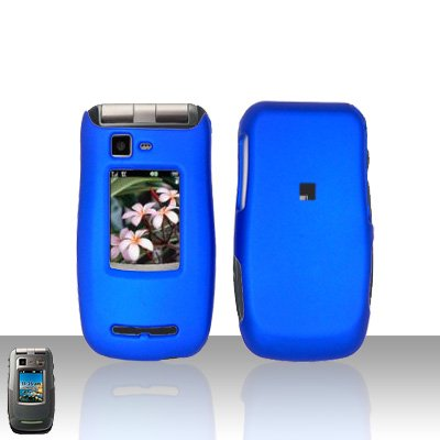 Blue Cover Case Snap on Protector for Motorola Quantico W845