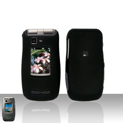 Black Cover Case Snap on Protector for Motorola Quantico W845