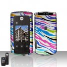 Rainbow Zebra Cover Case Snap on Protector for Motorola Cabo i890