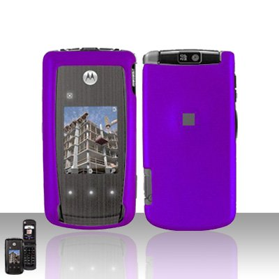 Purple Cover Case Snap on Protector for Motorola Cabo i890