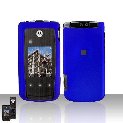 Blue Cover Case Snap on Protector for Motorola Cabo i890