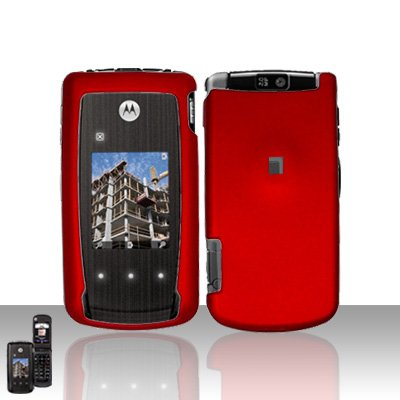 Red Cover Case Snap on Protector for Motorola Cabo i890